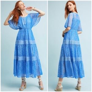 Anthropologie Camira dress worn 1x lace maxi